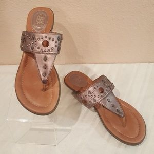 ARIAT North Star Pewter Studded Thong Sandals